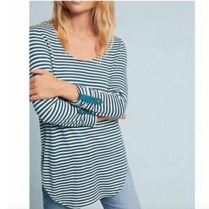 Anthropologie Akemi + Kin Green White Striped Top